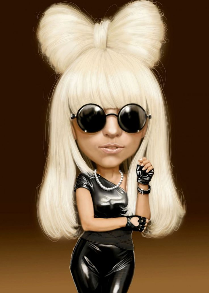 Caricatura de Lady Gaga.