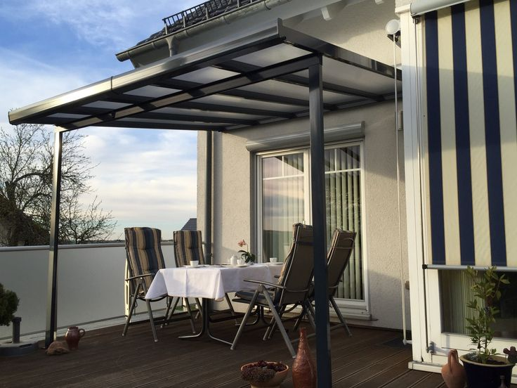 Terrassendach & Carport - Bausatz Typ A - 3000x3000mm - Anthrazit/grau