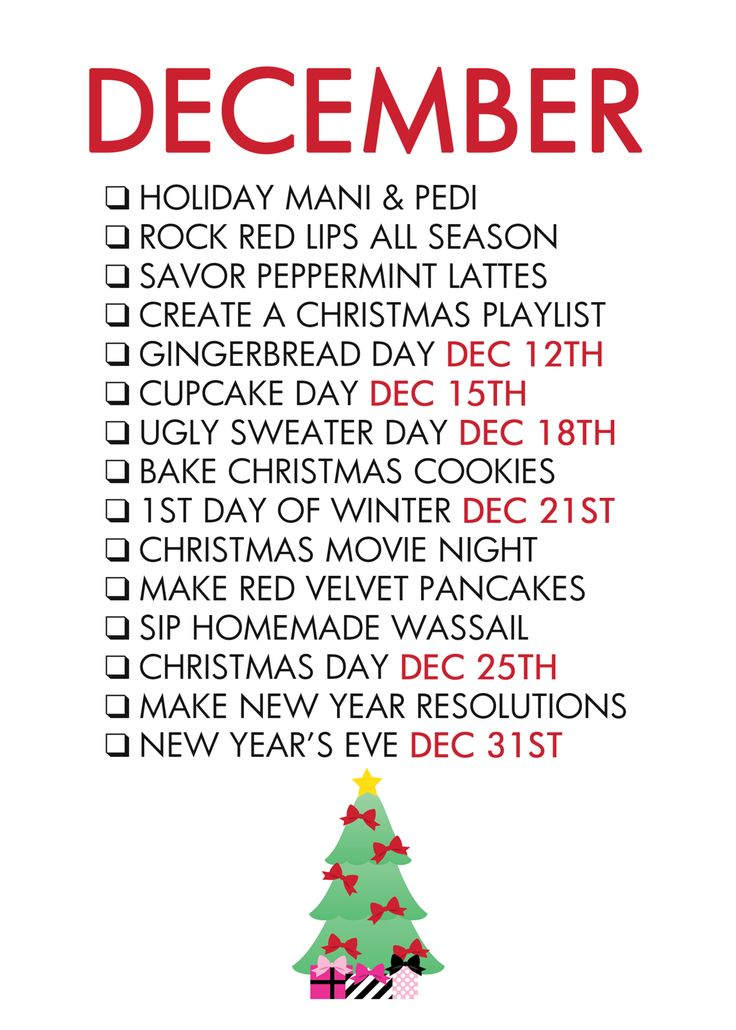 December Life List