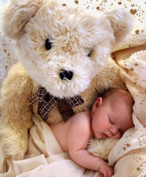 The Bear and The Baby: Pictures Ideas, Photo Ideas, Teddy Bears, Bears Hugs, Baby Pictures, Baby Photo, Sweet Dreams, Baby Stuff, Photography Ideas
