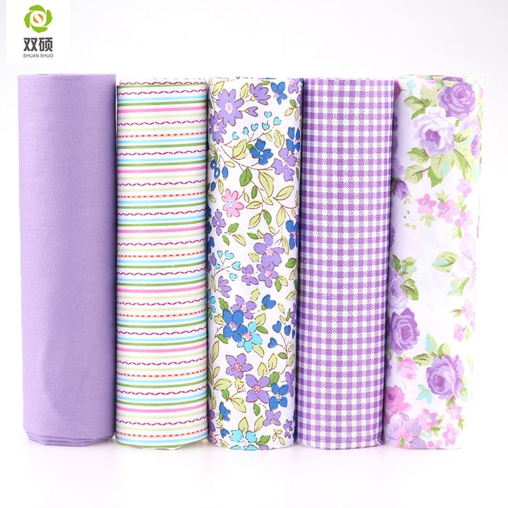 100% Tissus Cotton Fabric Telas Patchwork Fabric Fat Quarter Bundles Fabric For Sewing DIY Crafts Purple Color 40*50cm 5pcs/lot >>> Click on the image for additional details.