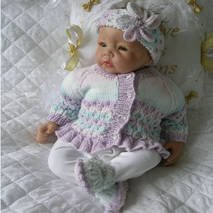 Knitting Pattern 17 22 Quot Reborn Doll 0 3 Month Baby
