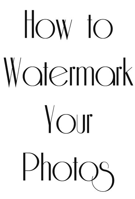 How to watermark your photos for free