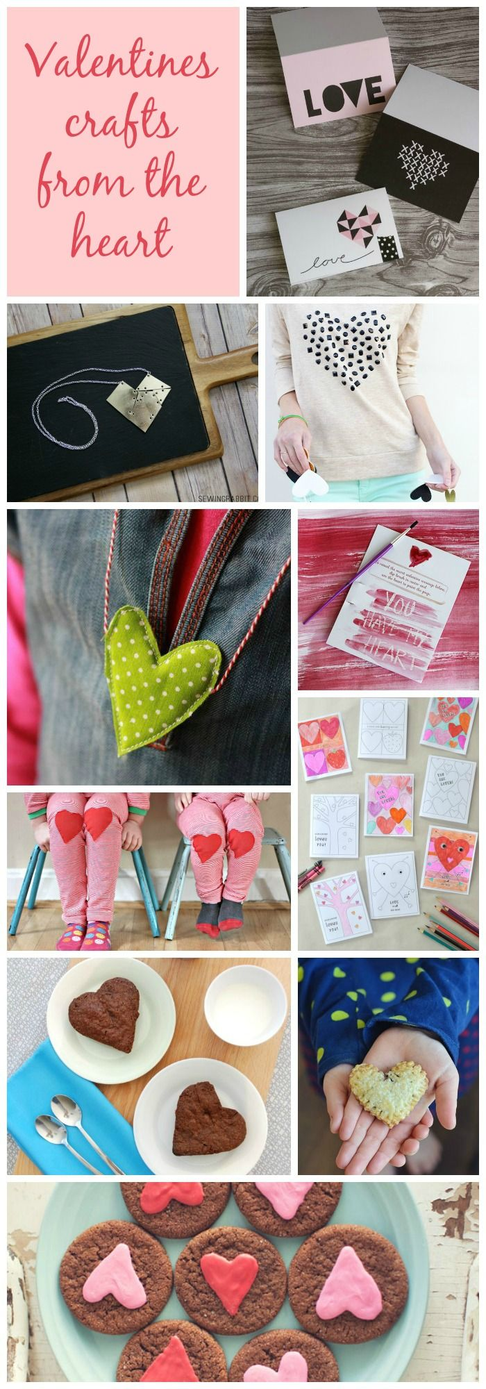 Gorgeous round up of heart shaped crafts and valentines ideas! Nutella tarts -- yum!