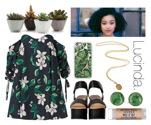 """""""Lucinda."""" by sunfayn on Polyvore featuring moda, Caroline Constas, Olivia Collings Antique Jewelry, Skin & Tonic e Casetify"""