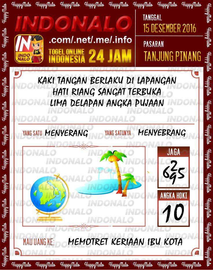 Tafsir Lotre 2D Togel Wap Online Live Draw 4D Indonalo Tanjung Pinang 15 Desember 2016