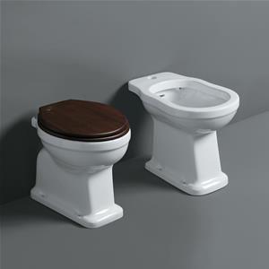 Sanitari tradizionali ceramica copriwc noce scarico a pavimento ...