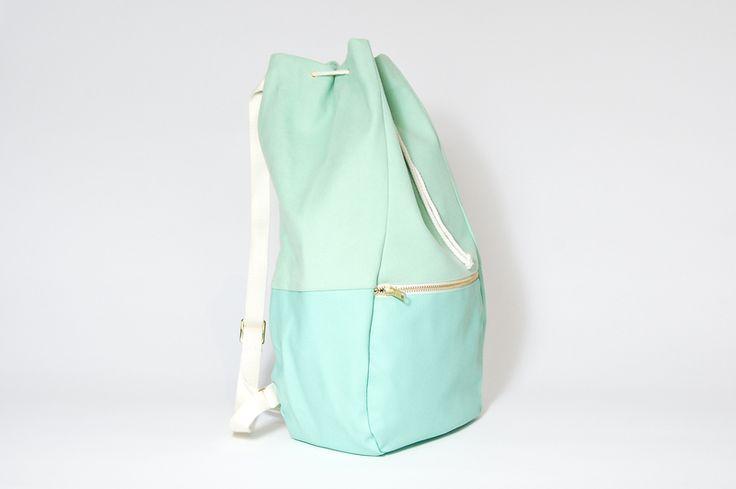 Rucksack in Mint // mint-green backpack via DaWanda.com