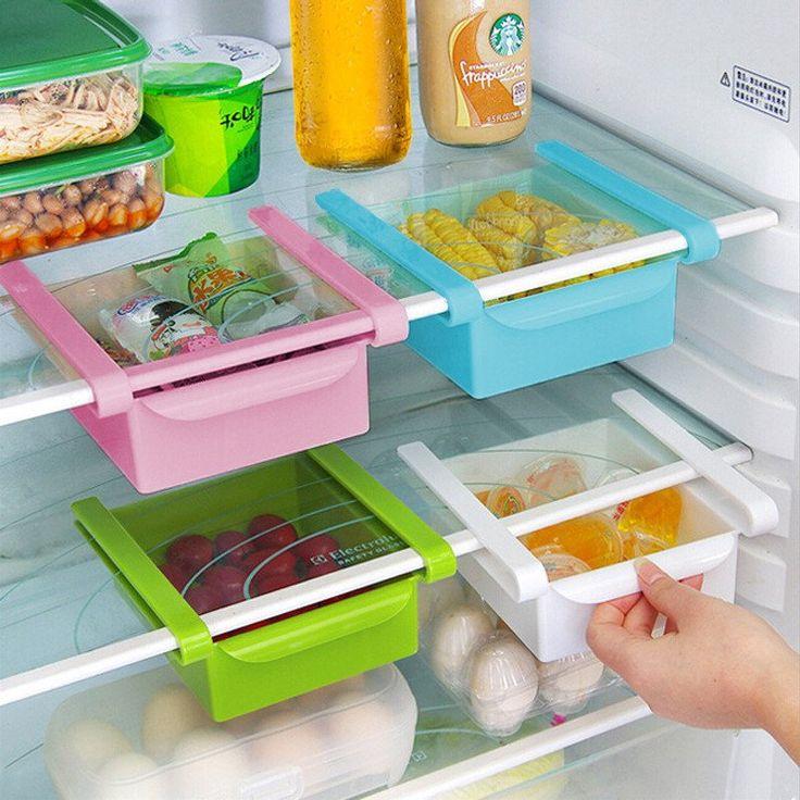 Latest Kitchen Tools Part - 23: Slide Storage Boxes - Add Space To Fridge, Freezer Or Pantry