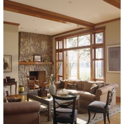 Natural wood trim wall color gurley ct pinterest for Natural color living room ideas