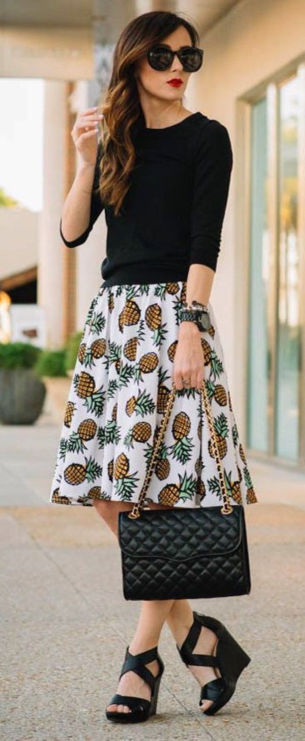 Attractive Casual Skirt Outfits For This Summer0211