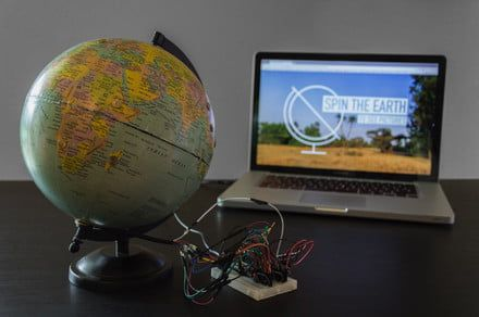 Tap any location and this interactive globe will display photos you took there