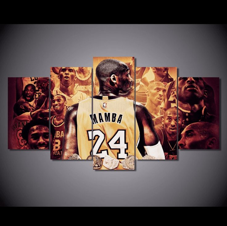 Style Your Home Today With This Amazing 5 Panel Kobe Bryant The Black Mamba Framed Wall Canvas For $99.00  Discover more canvas selection here http://www.octotreasures.com  If you want to create a customized canvas by printing your own pictures or photos, please contact us.