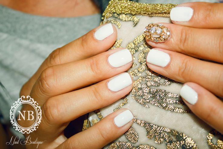 Accessory , white nails