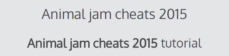 animal jam cheats 2015 | Hack - online generators tutorials