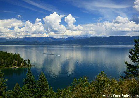 Flathead Lake in Montana.