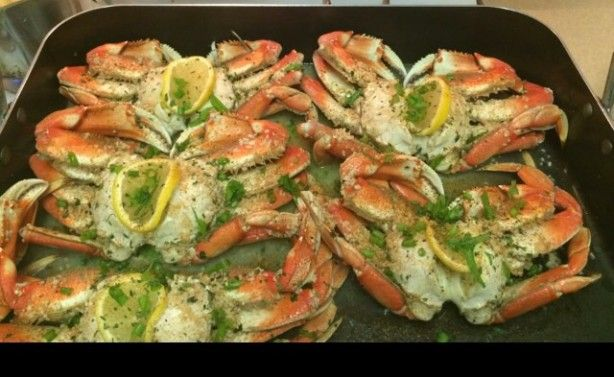This is a simi difficult recipe, but the result is ever so delectable. I had something like this at Crustaceans in San Francisco. They used the wonderful Dungeness crabs, but here in Virginia I had to settle for Blue crabs, which turned out just as nice.