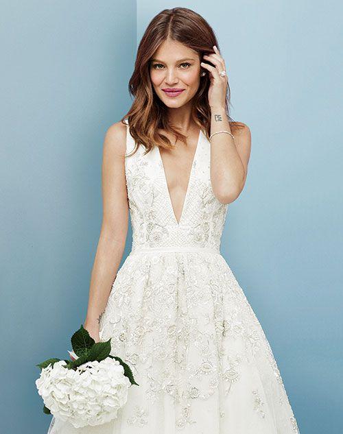 Best Hairstyle For V Neck Wedding Dress : Best 25 v neck wedding dress ideas on pinterest backless