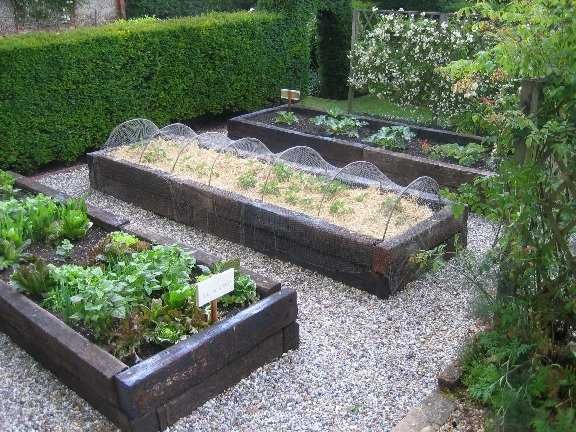 reclaimed railway sleepers - raised beds
