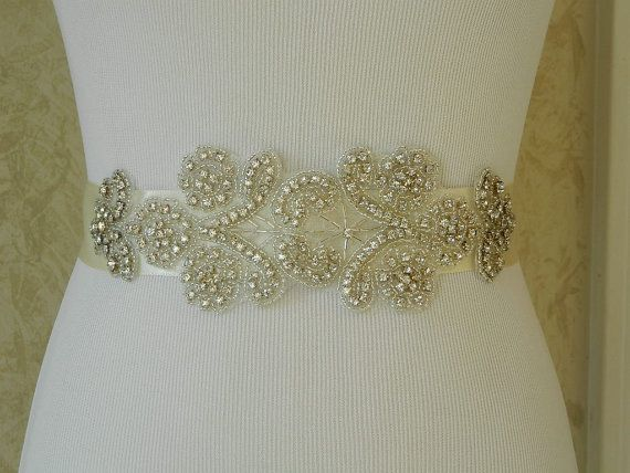 Wedding BeltWedding SashBridal Sash Crystals by BridalSashByTania, $75.00