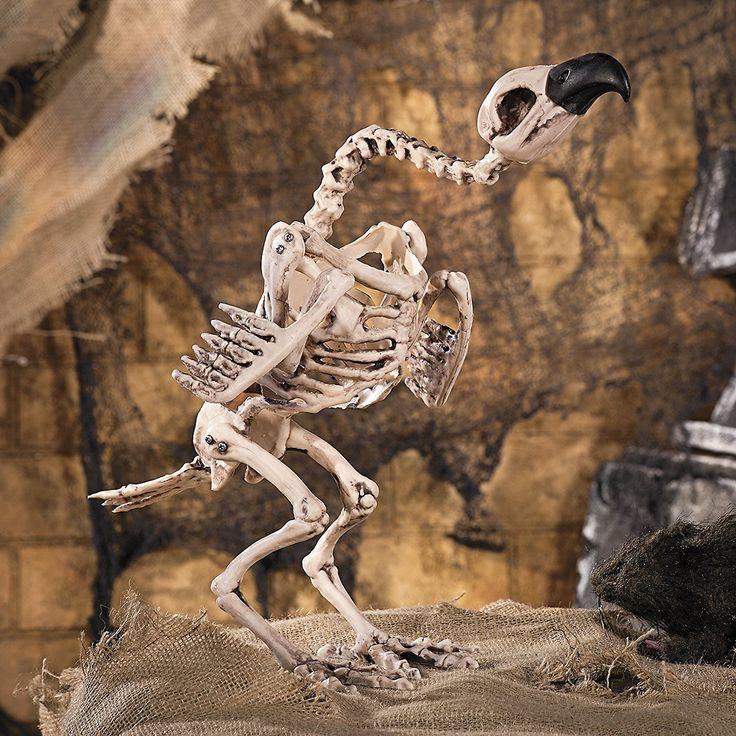 Amazing Halloween Skelett Geier Vogel cm gro Horror Grusel Party Deko