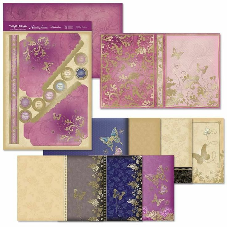 Twilight BUTTERFLIES - Luxury HUNKYDORY  kit -project Set - use KIT as One Project - or use Each sheet within your Card Making projects  Imogen.x