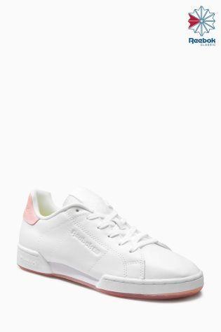 Бело-розовые кроссовки Reebok NPC ll - Покупайте прямо сейчас на сайте Next: Украина