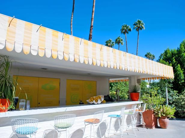 awning; Parker Palm Springs, Palm Springs, Calif. - Desert Oases: 17 Stylish Southwestern Escapes on HGTV