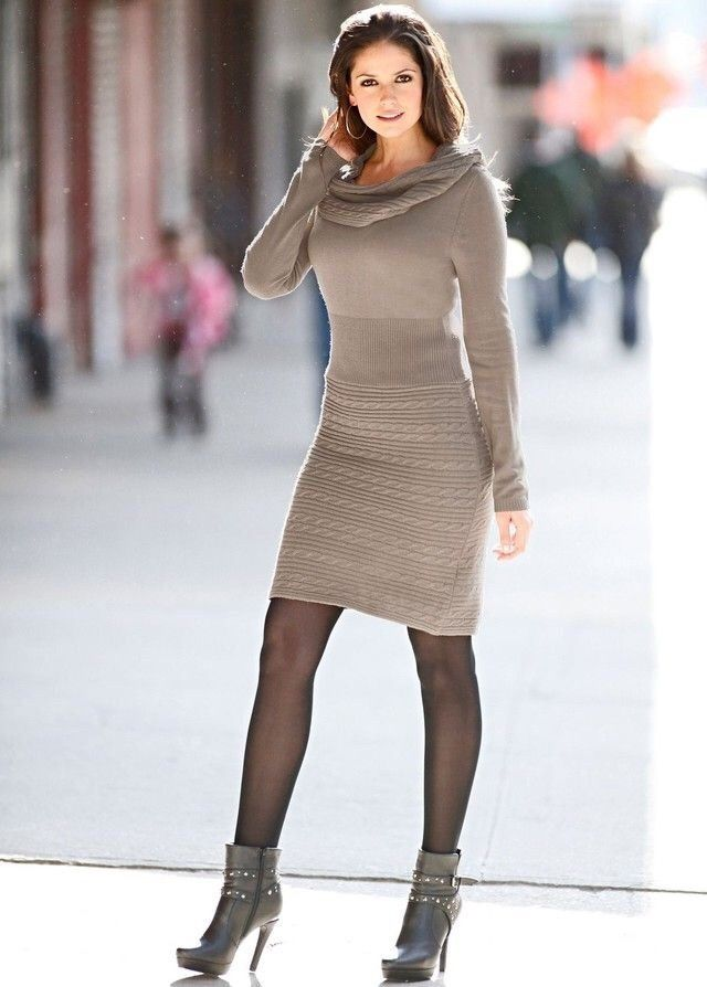 Ankle Sweater Dresses