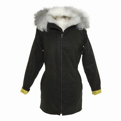 Oilskin jacket long
