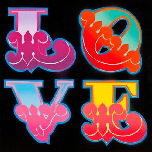 Love: Spray Art  An original sprayed piece by graffitiartistBen Eine, using his 'circus alphabet'.
