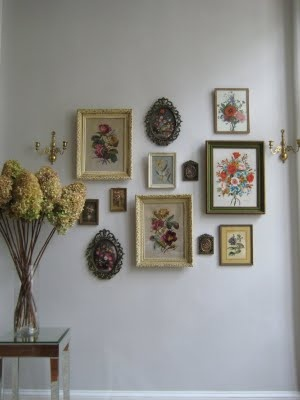 vintage frame wall collage