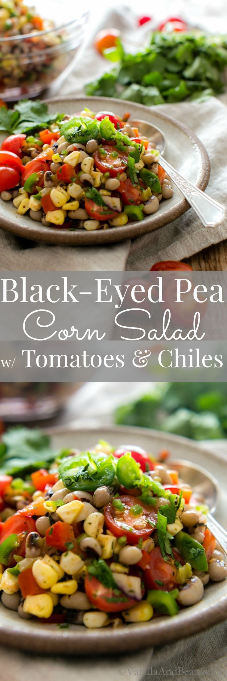 Sweet corn balances the heat of chiles in this versatile Black-Eyed Pea Corn…