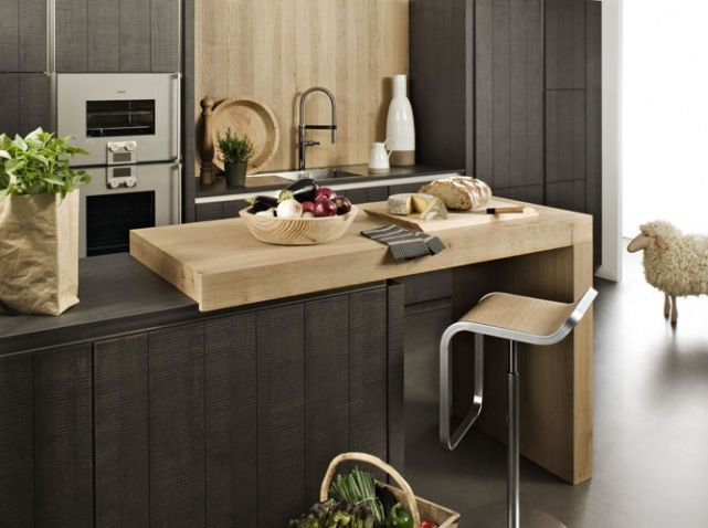 11 best Cuisine 1 images on Pinterest Benches, Copper bar stools - meuble bas cuisine avec plan de travail