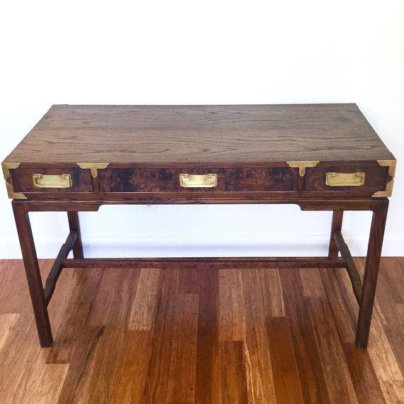 $575 - Vintage Campaign Desk Brass Hardware by ScoopsVintageModern