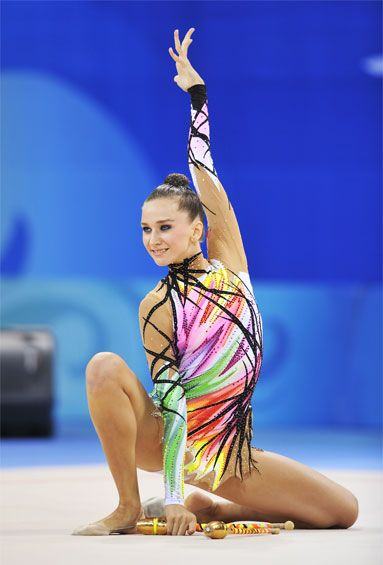 Liubov Charkashyna - on of my favourite rhythmic gymnasts o all time ...so energized and feisty