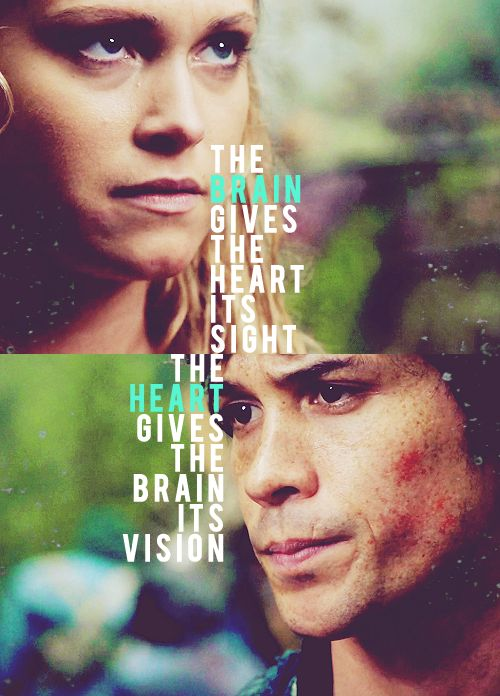 CW's The 100 - Bellamy and Clarke. I love this! Especially because it tells me someone else is obsessed enough to remember J.R's quote, too ;) |#Bellarke||Clarke and Bellamy||CW||TV Shows||The 100|