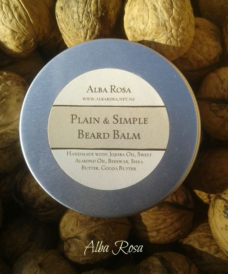 Plain and Simple Beard Balm -Alba Rosa
