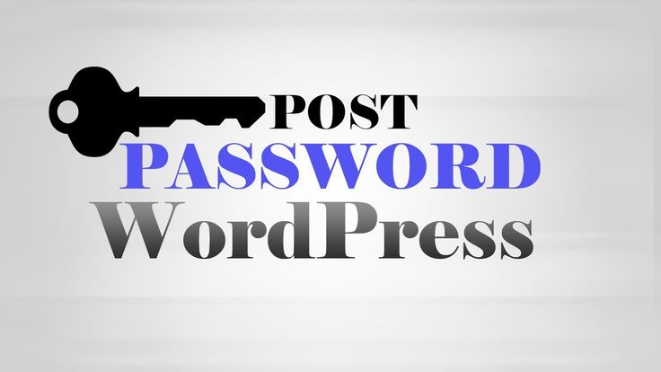 How to add #Password protection to #WordPress posts