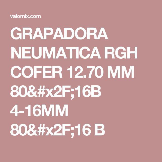GRAPADORA NEUMATICA RGH COFER 12.70 MM 80/16B 4-16MM 80/16 B
