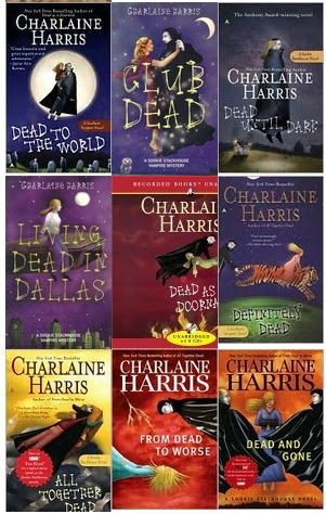 "True Blood Series by Charlaine Harris - I just realized I *might* have a ""vampire book series"" addiction.hmmm... but, this writer makes it funny, too."