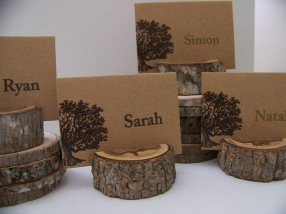 Woodland Set of Tree Place Card Holders Set of 23 Plus Small Stump