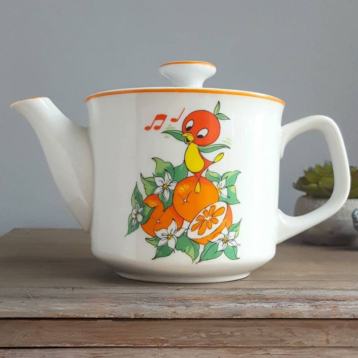 Walt Disney World Florida Orange Bird Teapot, 1970s, Made in Japan, Very Rare, Disney Tea Pot, Vintage Disney Memorabilia, Retro Kitchen