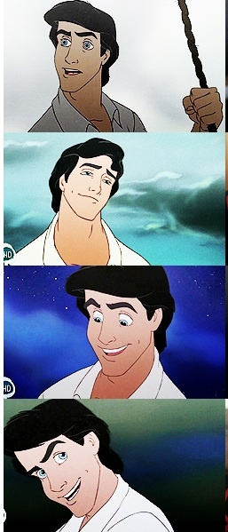 Prince Eric began my love affair with dark hair and blue eyes!