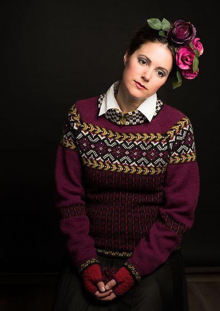 Ravelry: Fridas blomsterranke, genser pattern by Karihdesign Kari Hestnes