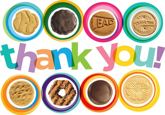 Girl Scout Cookies Thank You