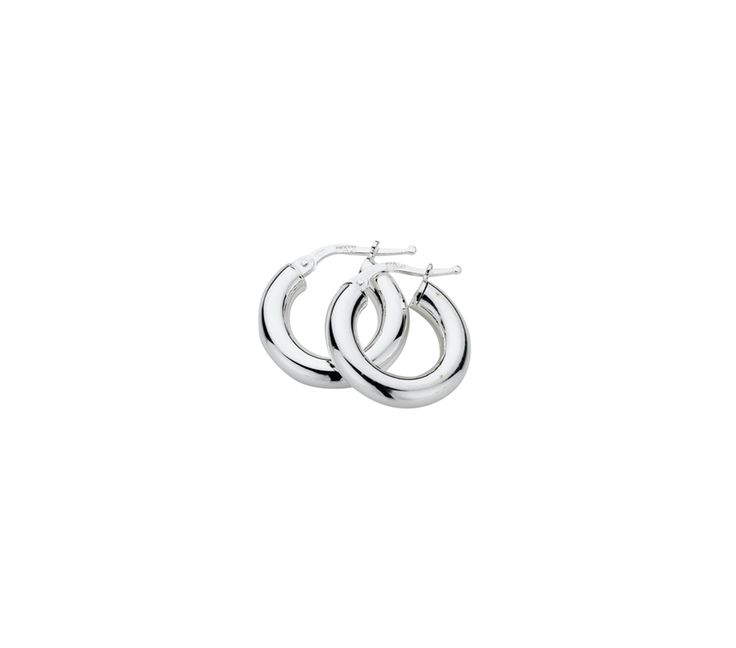 Sterling Silver Polished Hoop Earrings 4/10mm, Earrings, SJ1237