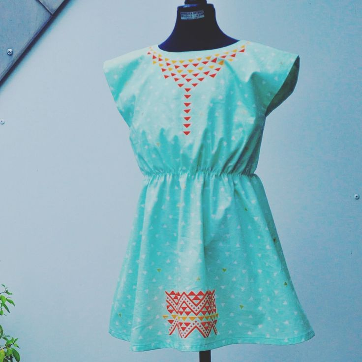 Girl Dress, fabric inspired on the Mapuche Iconography. www.noavys.com