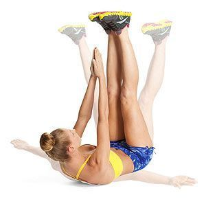 Melt the Muffin Top...The Power Abs Workout (this one looks great, and it will work the legs and butt too).