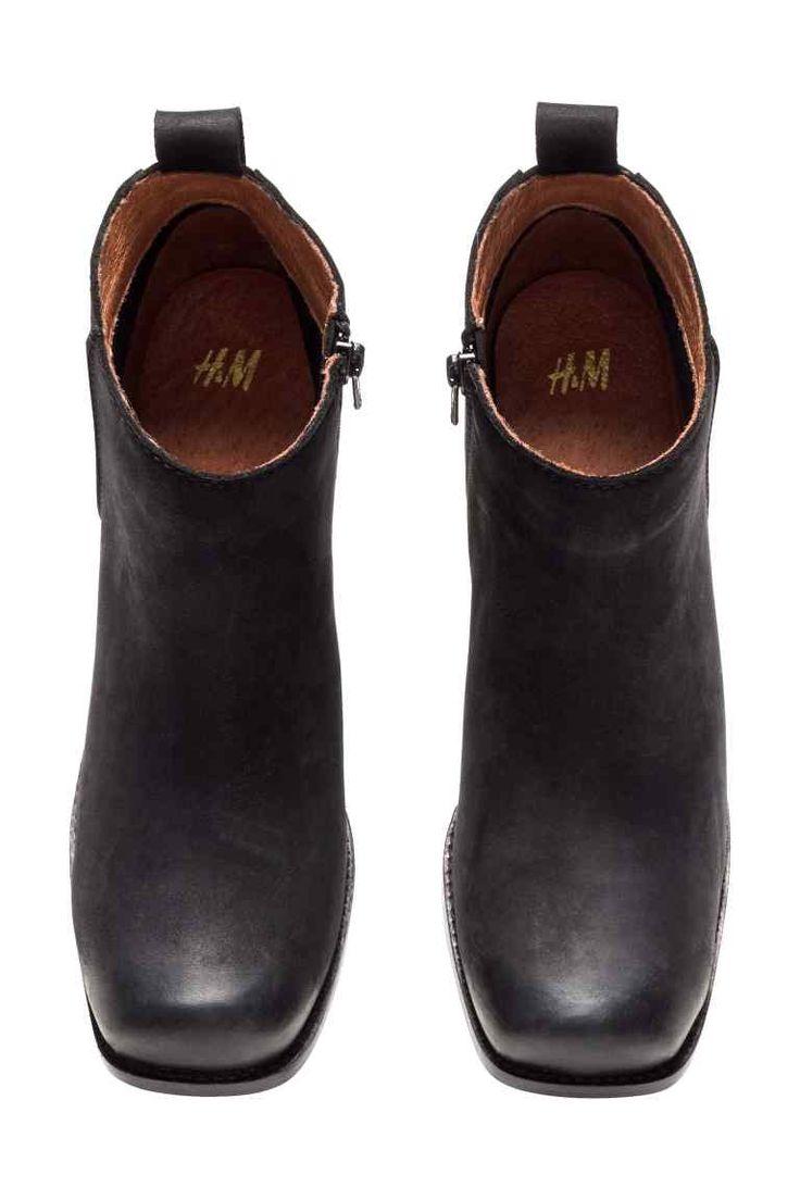 Kožené kotníkové boty | H&M